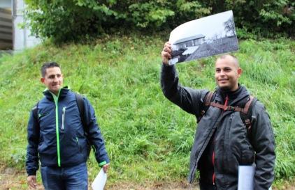 Fabian Homberger und Fabio Cappelli zeigten in der Aubrugg anhand alter Fotos den Unterschied zwischen Früher und Heute 3